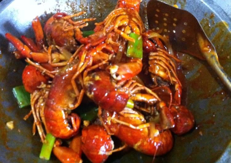 Udang Lobster Saos Minang