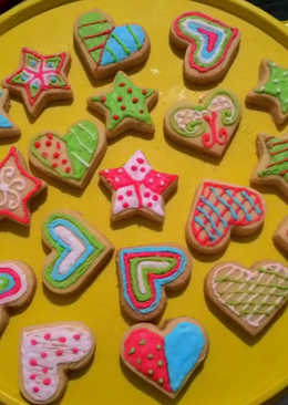 Cookies hias icing sugar