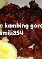 Sate kambing goreng