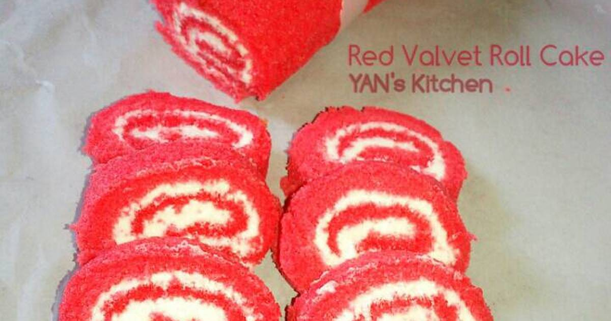 Resep Red Valvet Roll Cake