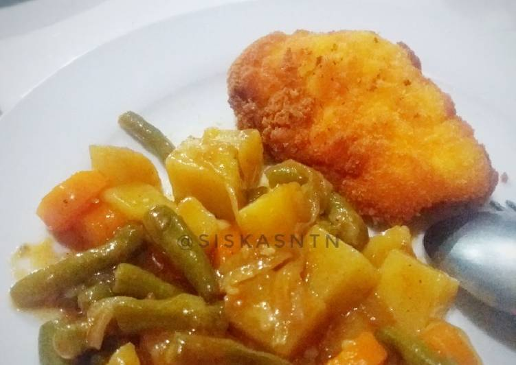 Japanese Curry with Chicken Katsu #BikinRamadanBerkesan