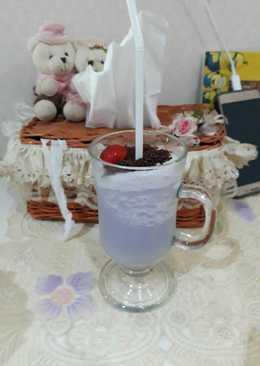 Ice taro coklat