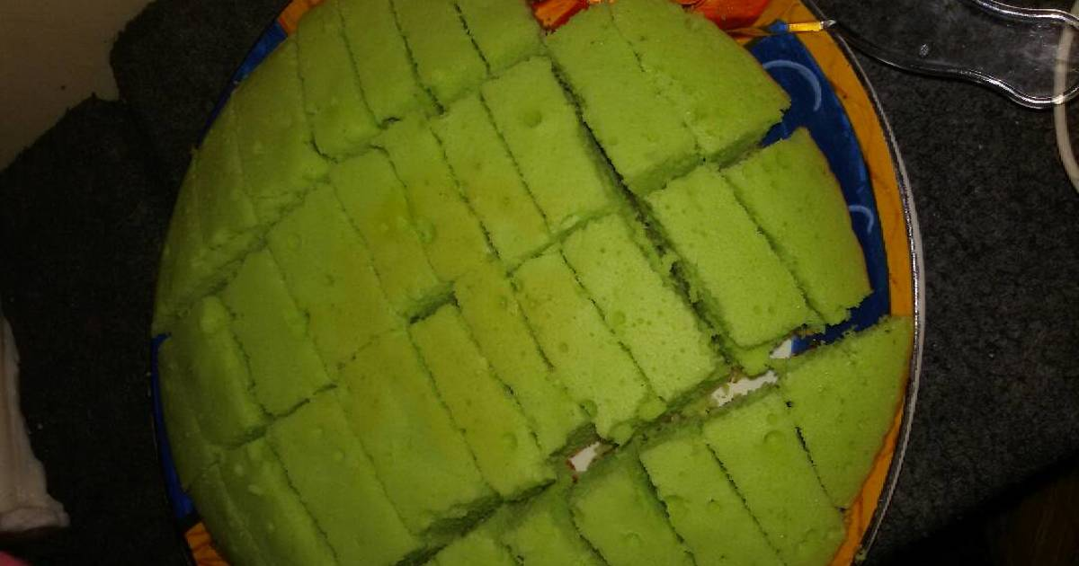 Resep Bolu pandan teflon simple