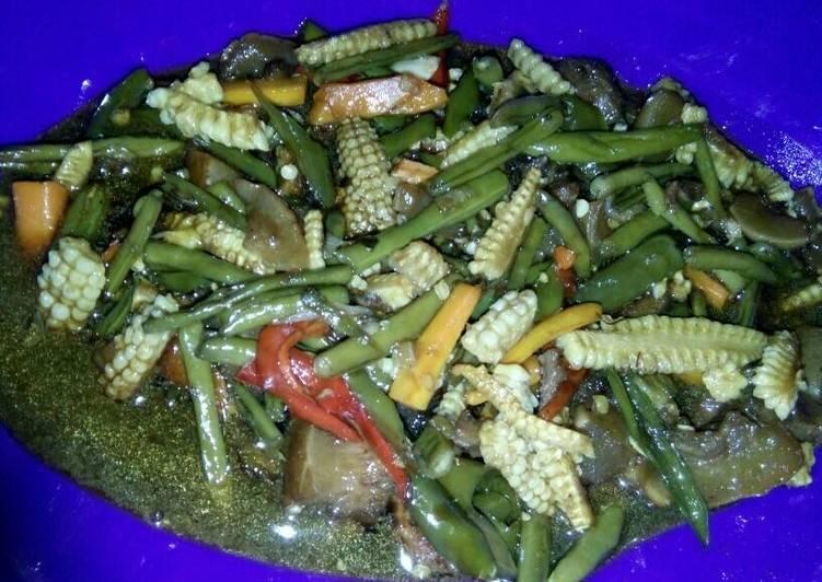Resep Tumis baby corn+buncis - Sandy||p4wo3n_ko3