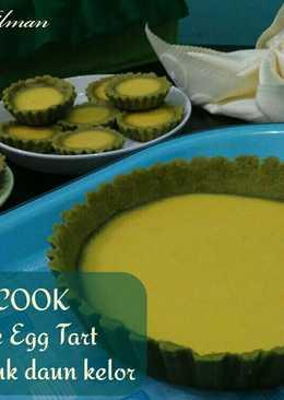 Cheese Egg Tart with Moringa Powder (bubuk daun Kelor 🌿)