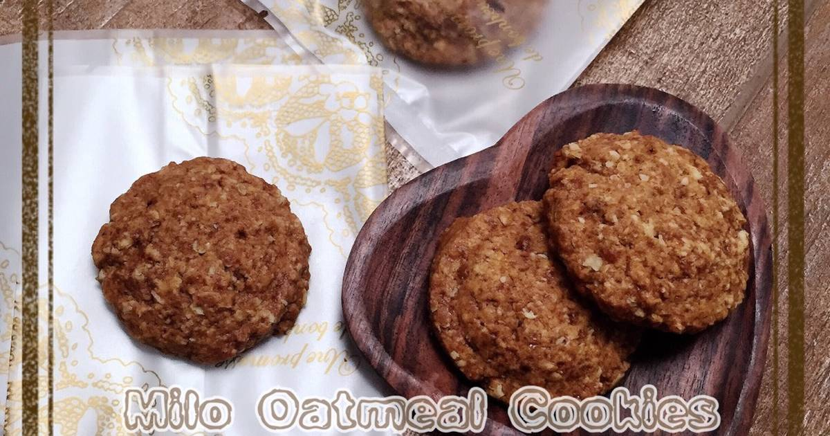 Resep Milo Oatmeal Cookies