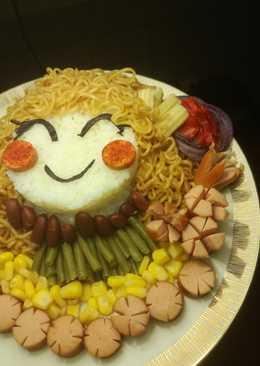 Bento rice & noodles