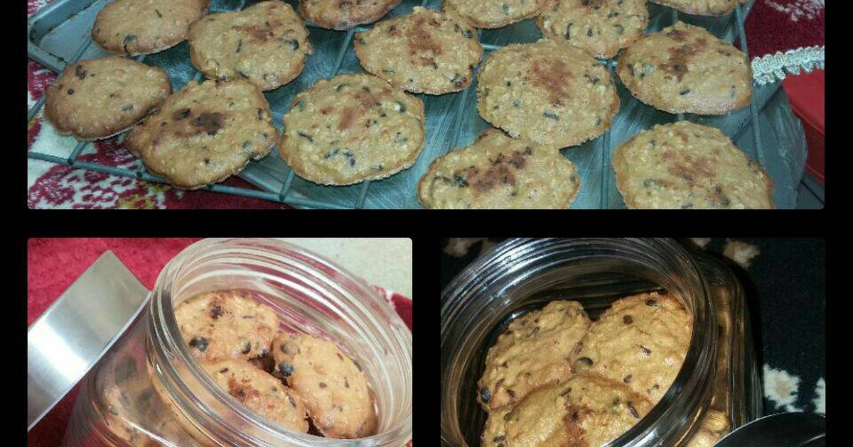 Resep Chocochip oat cookies