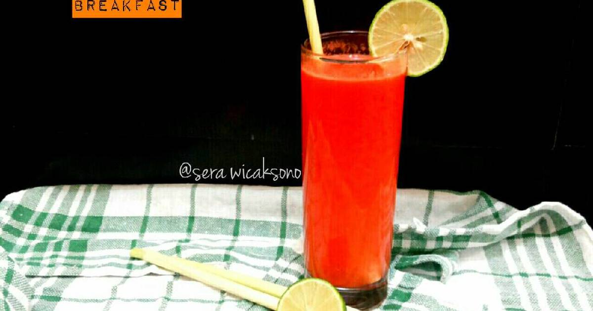 Resep Mayo day 5 - breakfast | jus wortel sere