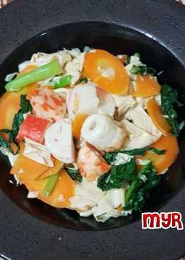 Capcay Bakso Seafood