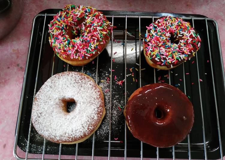 Donut empuk dan simple enak