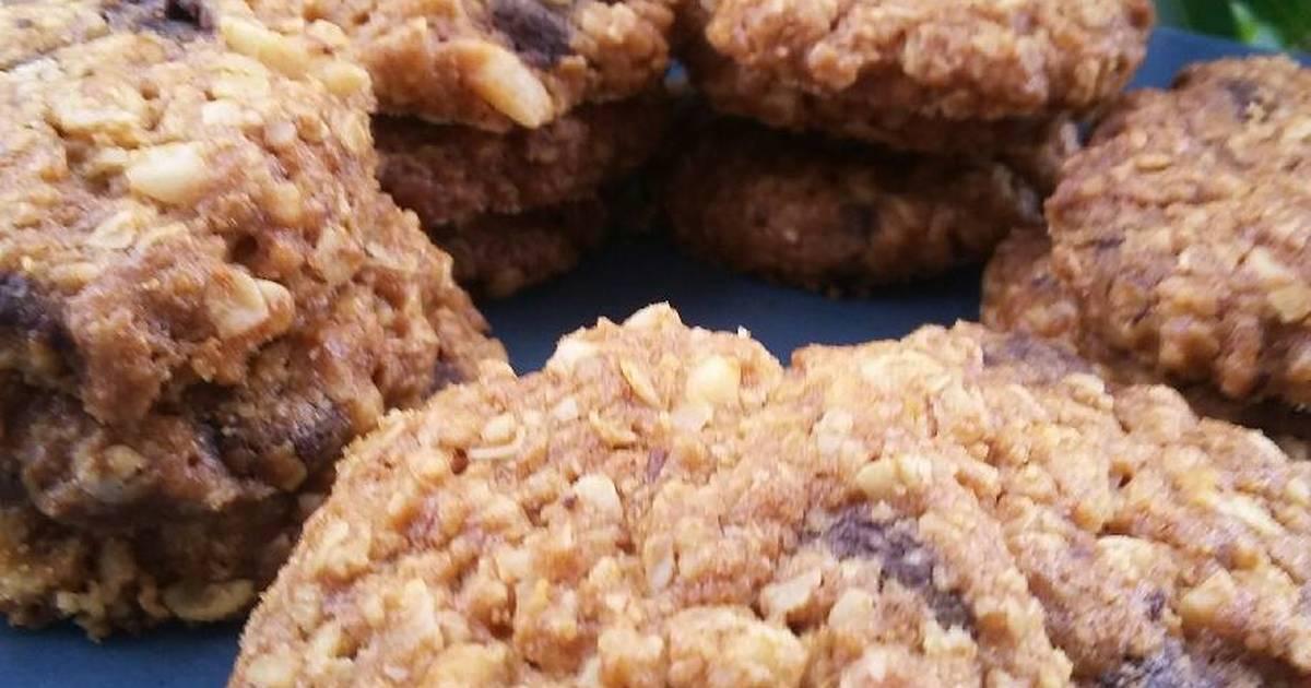 Resep Cookies Oatmeal Kenari Chocochips Super Crunchy