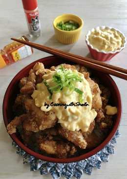 Chicken Karaage dengan Egg Mayo