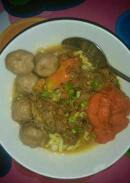Mie ayam bakso bumbu curry