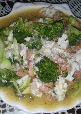 Salmon Brokoli Siram Saos Telur