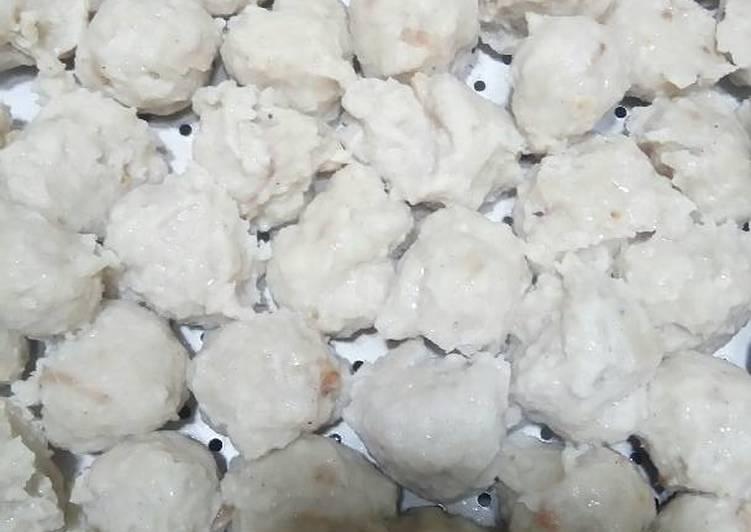 Bakso ayam tanpa pengawet mudah dan praktis