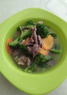 Soup daging brokoli makaroni
