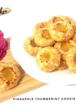 Pineapple Thumbprint cookies with cheese #24