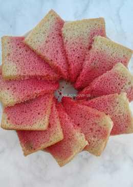 Gluten Free Ombre chiffon cake