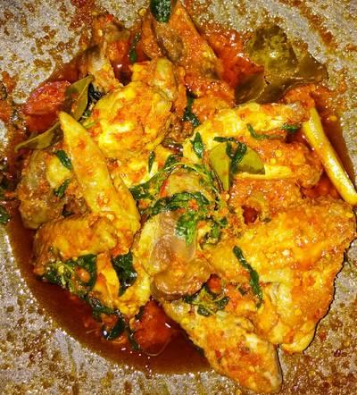 Ayam rica rica pedas kemangi