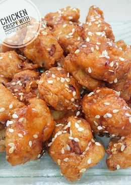 Chicken crispy with honey sauce