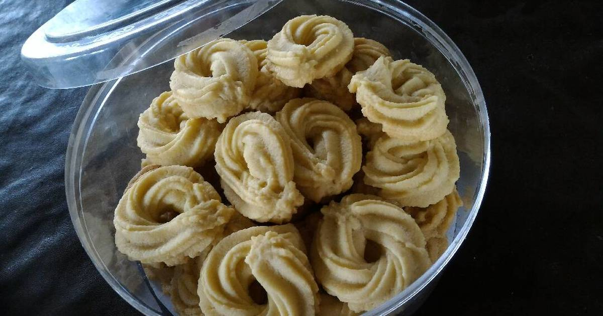 Resep butter cookies (simple)