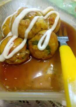 Takoyaki Sayuran Sehat (Okonomiyaki Bola)