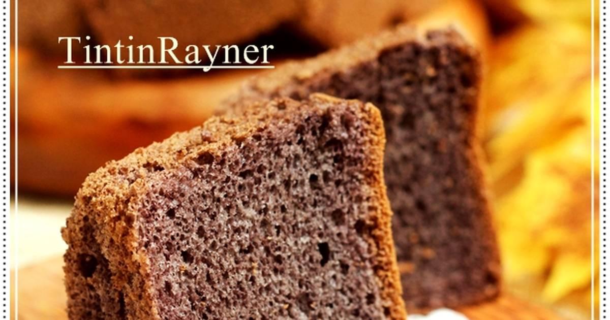 Resep Chiffon Cake Ketan Hitam aka Black Glutinous Rice Chiffon Cake nikmat