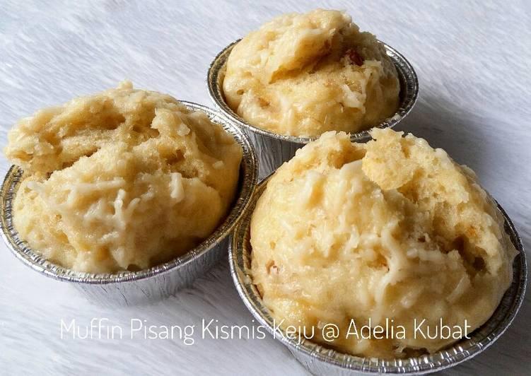 resep masakan Muffin Pisang Kismis Keju