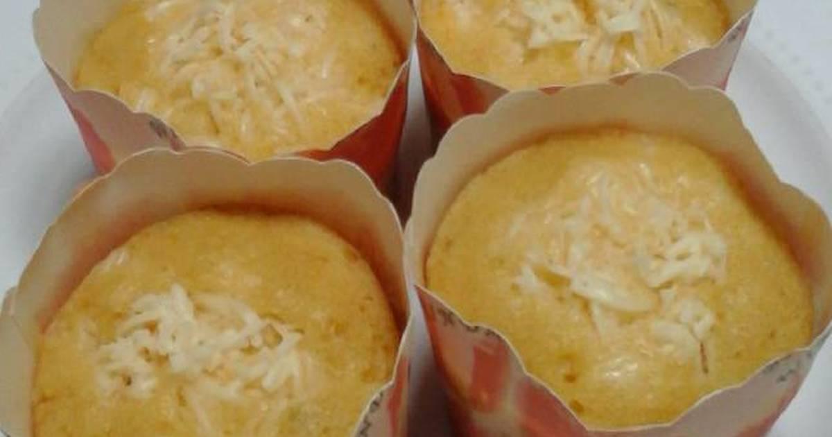 Resep Cake Keju Jepang: Resep Cup Cake Keju (kukus) Oleh Annie