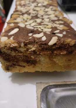 Marmer cake putih telor