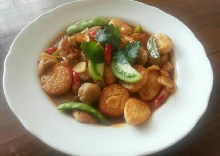 Tofu Bakso Saus Tiram
