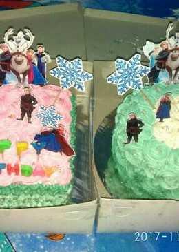 Kue Ulang Tahun Rainbow Cake Frozen