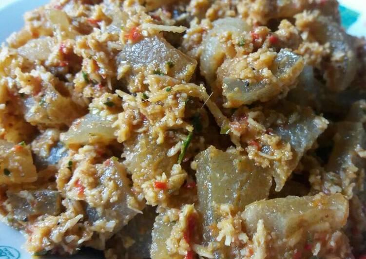 resep masakan Kikil Pedas Bawang Kencur