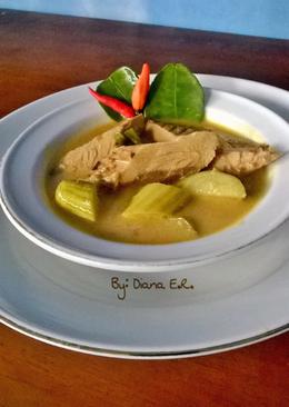 Ikan Tongkol bumbu kuning dan sayur