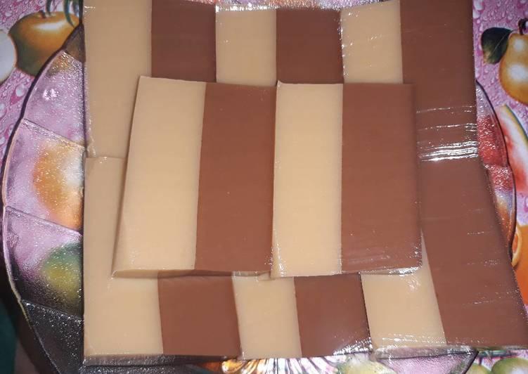 Puding lapis coklat cappucino