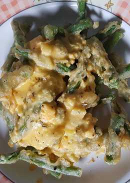 Buncis kriuk telur asin (salted egg sauce)