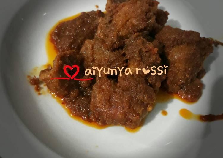 Resep Rendang daging Oleh raga ayu