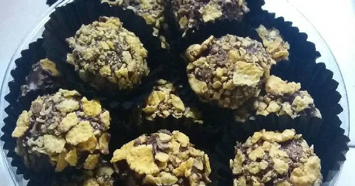 Resep bola cokelat cornflakes