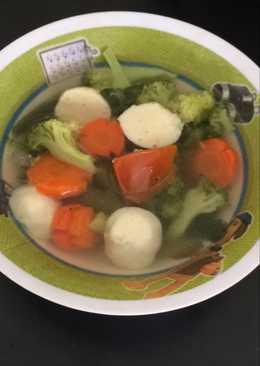 Sup Brokoli Bakso Ayam