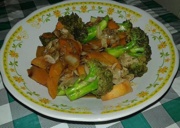 Resep Tumis Brokoli Wortel & Udang Praktis Nikmat