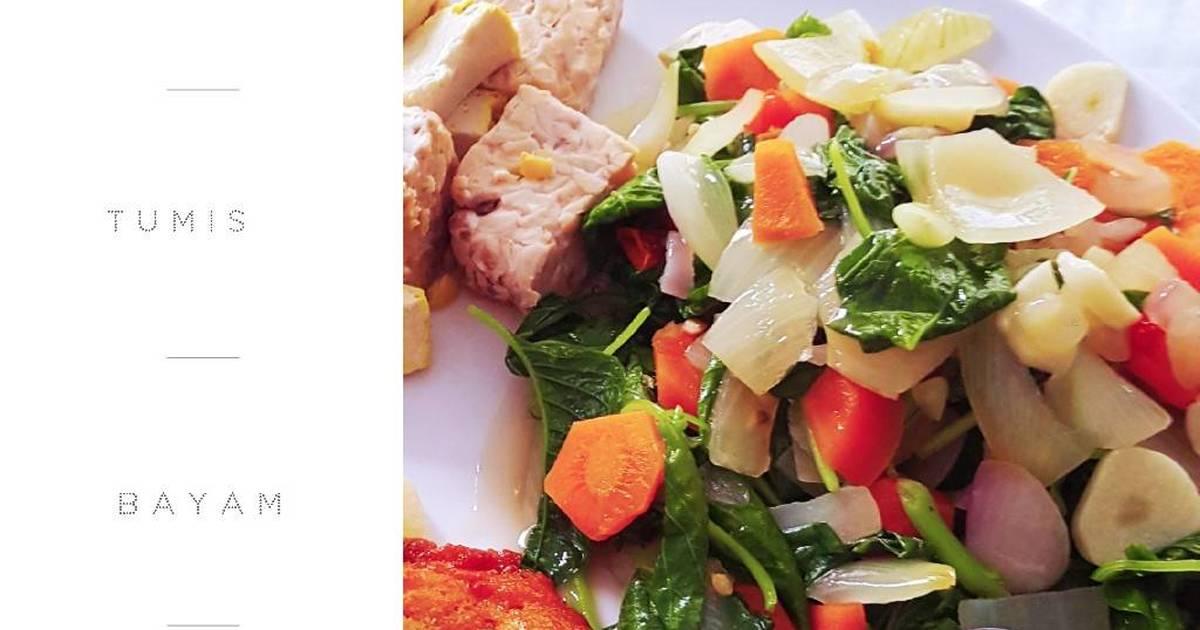 Resep Tumis Bayam (Menu Diet) oleh Dea Adelia - Cookpad