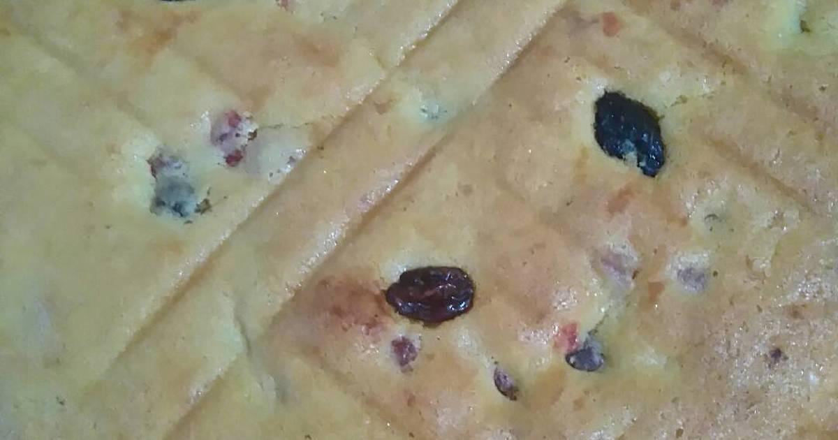 Resep Pound cake w/ kismis n mix peel