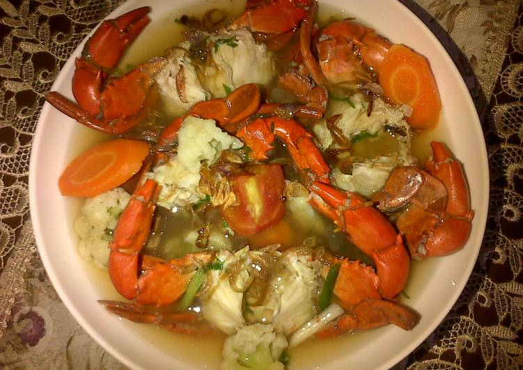 Resep Sup Kepiting Kiriman dari Nauzaery Setyo