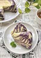 Cake marmer kukus taro