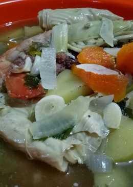 Sup Simple Udang Galah kembang tahu