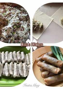 Lumpia isi daging sapi & kol