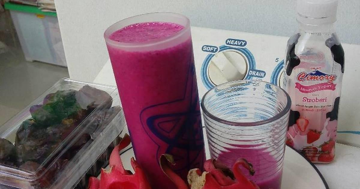 Resep Jus NaYoKu (Buah naga+yogurt+kurma)