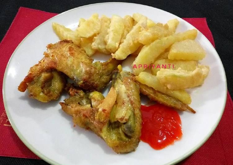 Ayam + kentang goreng