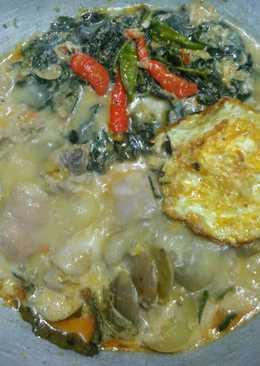 Rendang Ayam,Telur,Jengkol,daun Singkong nyossssssss